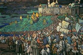 Wassily Kandinsky: Ankunft der Kaufleute