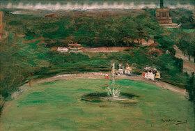 Max Liebermann: Blick aus dem Atelier des Künstlers auf den Königsplatz