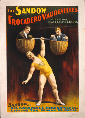 Eugen Sandow, Plakat zur Vaudeville-Show