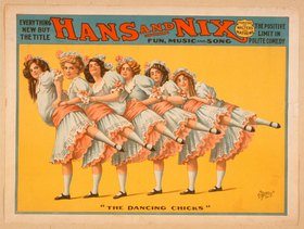 Hans and Nix, The Dancing Chicks / Plakat