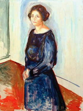 Edvard Munch: Dame in Blau (Frau Dr. Barth)