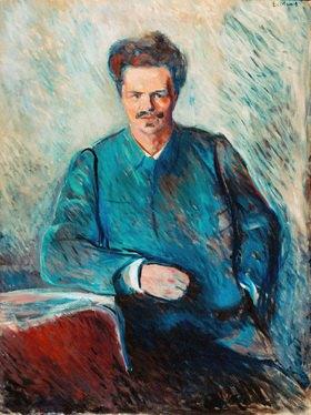 Edvard Munch: August Strindberg, schwedischer Schriftsteller, 1892