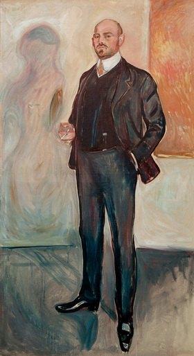 Edvard Munch: Walther Rathenau, Schriftsteller und Politiker, Öl auf Leinwand, 200 × 110 cm
