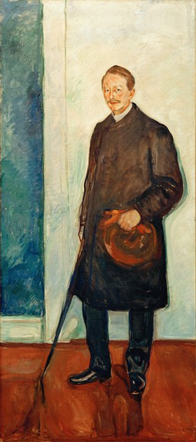 Max Linde, Augenarzt und Kunstsammler (Förderer Edvard Munchs), Öl auf Leinwand, 226,5 × 101,5 cm