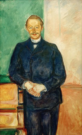 Edvard Munch: Max Linde, Augenarzt und Kunstsammler (Förderer Edvard Munchs) Öl auf Leinwand, 133 × 81 cm