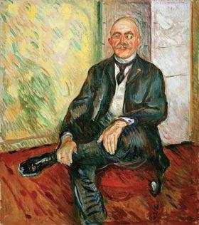 Edvard Munch: Gustav Schiefler, Landgerichtsdirektor in Hamburg und Kunstsammler (Förderer Edvard Munchs) Öl auf Leinwand, 135 × 119 cm