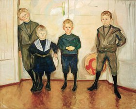 Edvard Munch: Die Söhne des Dr. Linde, Öl auf Leinwand, 144 × 199,5 cm