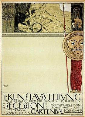 Gustav Klimt: Plakat der I.Secession