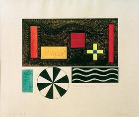 Wassily Kandinsky: Bilder einer Ausstellung, Bild VII: Bydlo, um 1930.Tusche, Tempera, Aquarell, 39,2 × 51 cm, Universität Köln, Theaterwissenschaftliche Sammlung
