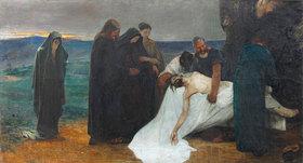 August von Brandis: Grablegung Christi