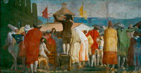 Giovanni Domenico Tiepolo: Il Mondo Nuovo, 1791, Menschenmenge vor einem Guckkasten (Ausschnitt)