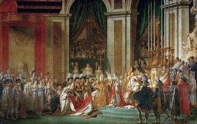 Jacques Louis David: Die Krönung Napoleons (am 2.12.1804 in der Kathedrale Notre-Dame in Gegenwart des Papstes Pius VII.)