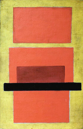 Olga Wladimirowna Rosanowa: Gegenstandslose Komposition (rot und gelb)