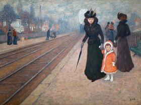Georges d' Espagnat: La gare de banlieue