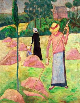 Pierre Bonnard: Frau mit Rechen