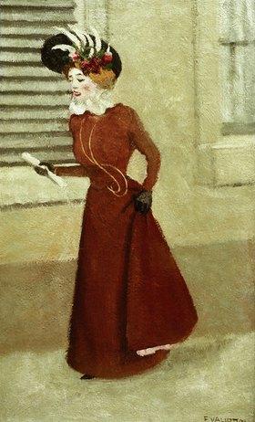 Felix Vallotton: Frau mit Federhut