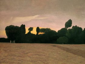 Felix Vallotton: Landscape in Normandy in the evening light