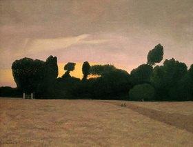 Felix Vallotton: Landschaft in der Normandie bei Abendlicht