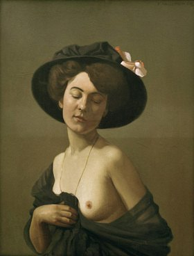 Felix Vallotton: woman with black hat
