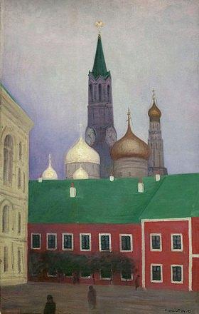 Felix Vallotton: Ansicht des Kreml in Moskau