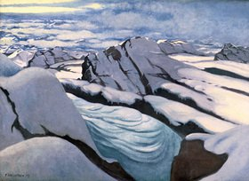 Felix Vallotton: Alpine mountain chain: glaciers and peaks in snow