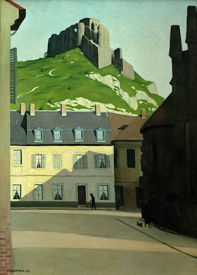 Felix Vallotton: Platz in Les Andelys mit dem Chateau-Gaillard