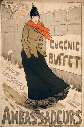 Eugénie Buffet / Plakat von Métivet