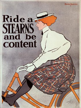 Edward Penfield: Stearns bicycle Yellow Fellow