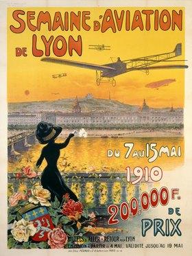 Plakat der Flugwoche in Lyon