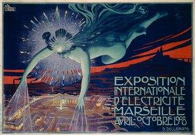Intern. Elektrizitätsausstellung Marseille 1908 / Plakat