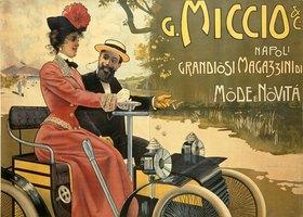 Werbung für Modegeschäft Miccio in Neapel