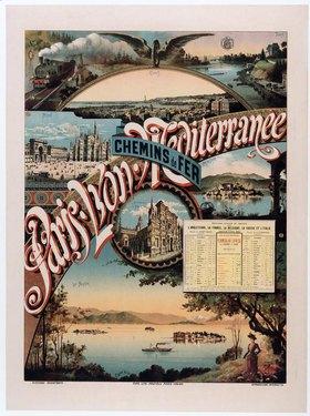 Eisenbahn, Paris – Lyon – Mediterranée / Plakat