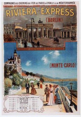 Eisenbahn, Riviera-Express / Plakat
