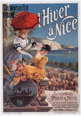Eisenbahn, Chemins de Fer P. l. M., Nizza / Plakat