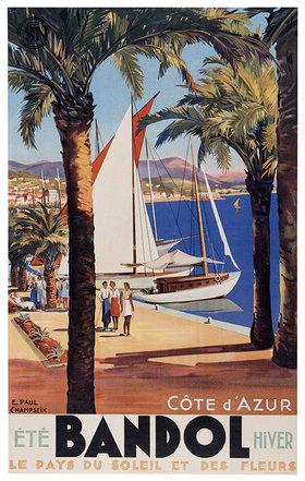 Urlaub in Bandol, Côte d'Azur / Plakat um 1930