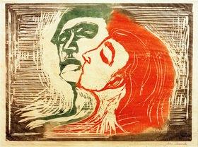 Edvard Munch: Kopf bei Kopf (Mann und Weib, sich küssend)
