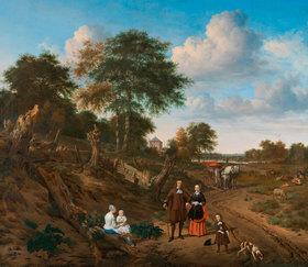 Adriaen van de Velde: Landschaft mit Familiengruppe