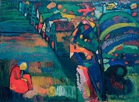 Wassily Kandinsky: Bild mit Häusern, 1909.