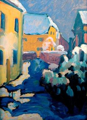Wassily Kandinsky: Kochel, Friedhof und Pfarrhaus