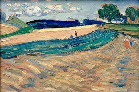 Wassily Kandinsky: Oberpfalz, Landschaft mit gelbem Feld, Sommer