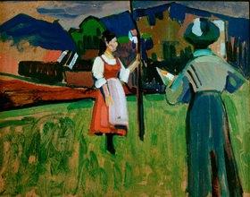 Wassily Kandinsky: Murnau, Gabriele Münter beim Malen