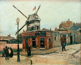Vincent van Gogh: The mill Le Radet on Rue Lepic