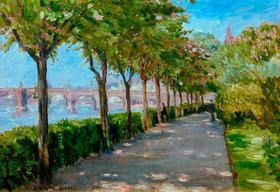 Jakob Nussbaum: Mainufer mit Blick auf die Alte Brücke