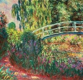 Claude Monet: Japanische Brücke im Garten von Giverney