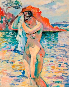 Henri Manguin: A bather dries her hair on the seashore