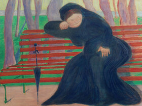 Marianne von Werefkin: Witwe auf der Bank