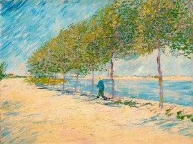 Vincent van Gogh: Spaziergang am Ufer der Seine bei Asnières, Frühling