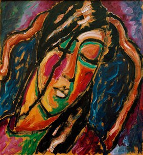 Alexej von Jawlensky: Sleeping woman, c