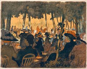 Ernst Matthes: Menschen im Park