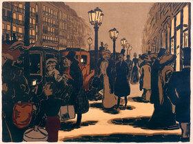 Ernst Matthes: Pariser Straßenszene